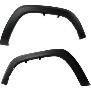 New Fender Flares Moulding Trim Wheel Opening Molding Set Of 2 Black Pair