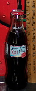 2006 GULFPORT MS COCA COLA BOTTLING COMPANY 100 YEARS 8OZ COCA -COLA BOTTLE