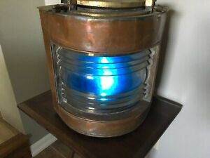 Vintage Ship Navigation Light Starboard Copper And Brass Authentic Original