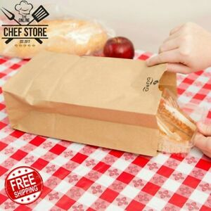 500 Pack 6 Lb Brown Disposable Paper Grocery Bags Standard 6 W X 11 1 16 H
