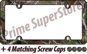 Camouflage Hunting Nature Black License Plate Frame Car truck Tag Holder cover