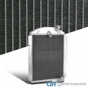 For Chevy 41 46 Truck Pickup L6 3 Row Core Chrome Aluminum Cool Racing Radiator