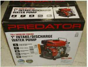 New 1 79cc Portable Gasoline Engine Clear Water Pump 35 Gpm Low Oil Quick Start