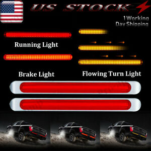 2x 17 Smoke 72led Marker Light Bar Trailer Truck Stop Turn Tail Brake