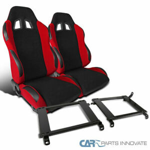 Fit 1990 1993 Acura Integra T r Style Black Red Racing Seats mounting Brackets
