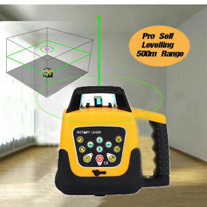 Samger Self leveling Rotary Rotating Green Laser Level Kit 500m Range Case
