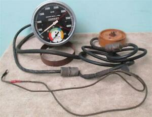 Vintage Sw Tachometer W Built In Vacuum Gauge 5 Inch Tach Vac Dated 1953 Color