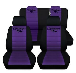 Car Seat Covers Fits 2018 Dodge Challenger Black Purple Custom Fit Personalized