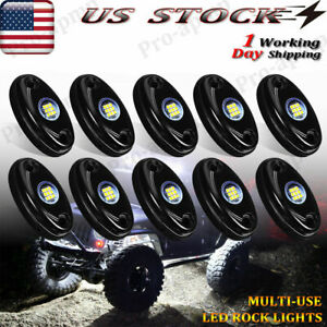 10x Red Led Rock Light Underbody Trail Glow Lamp Offroad For Jeep Truck Utv Boat