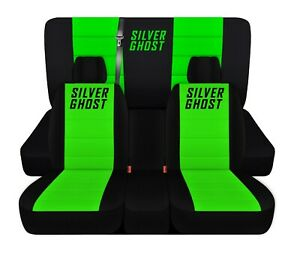 Truck Seat Covers 2002 Dodge Ram Black Lime Green Personalized Design Custom Fit