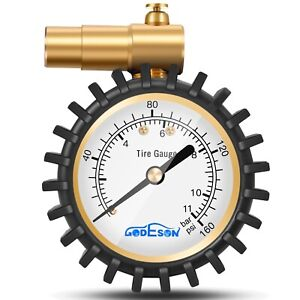 Presta Valve Tire Pressure Gauge Bicycle Air Relief Road Cycling 160psi 11bar