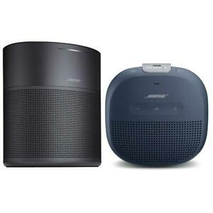 Bose Home Speaker 300 Black WBose SoundLink Micro Bluetooth Speaker Dark Blue