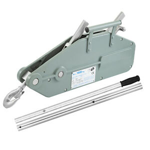 1 6t Lever Wire Rope Hoist With Swivel Hook Grey Rope Puller Operating Lever