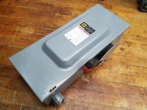 Square D H363 Disconnect 100 Amp Fusible Safety Switch 600vac 3ph 100a Frs r 100