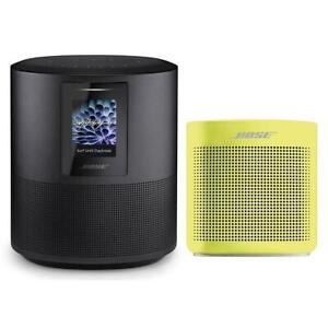 Bose Home Speaker 500Triple Black WBose SoundLink Bluetooth Speaker IIYellow