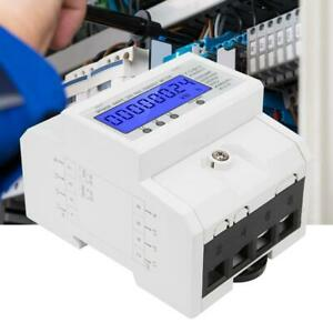 50 60hz 5 80 a 230 400v Electricity Power Energy Meter 3 phase Din Rail Mount Ut