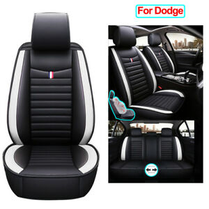 Universal Car Seat Cover Set Pu Leather Cushion Fit For Dodge Charger Durango