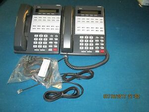 Nec Ds1000 Ds2000 Group Of 2 22 Button Display Phones Part 80573