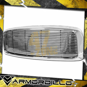 For 2002 2005 Dodge Ram 1500 Abs Replacement Horizontal Grille Chrome