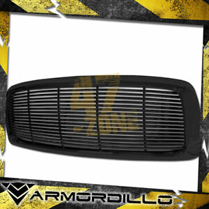 For 2002 2005 Dodge Ram 1500 Abs Replacement Horizontal Grille Gloss Black