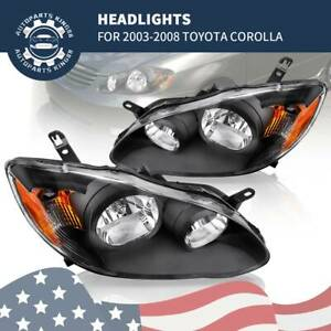 For 03 08 Toyota Corolla Headlights Headlamps 2003 2008 Factory Style Head Lamp