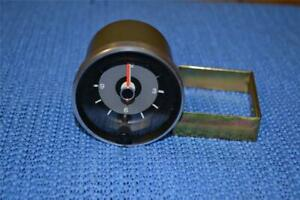 Omc Marine Borg Clock Nos With Bracket And Silver And Black Bezel