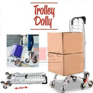 Folding Shopping Cart Grocery Trolley Laundry Stair Climbing Large Handcart Hot
