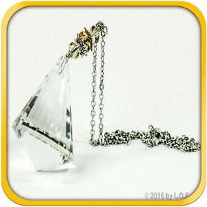Crystal Bling Gem Cone Car Charm Hanger Ornament Sparkle Facets With Chain