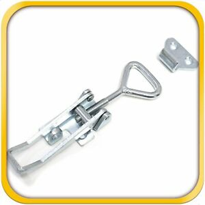 Pull Latch Toggle Clamp Coated Steel For Doors Cabinets 3 3 4 100 Mm Large