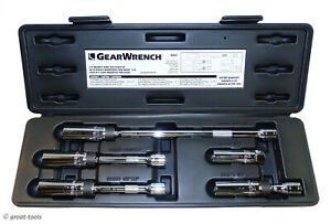 Gearwrench Spark Plug Sockets 9 16 5 8 Magnetic Universal Swivel Socket Set