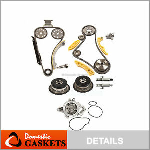 Timing Chain Kit Vct Selenoid Actuator Gear Water Pump Fits Gm Ecotec 2 0l 2 4