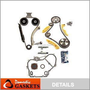 Timing Chain Kit Vct Selenoid Actuator Gear Cover Gasket Fits Gm 2 2 2 4l Ecotec