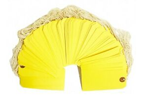 100 Yellow Tags 4 3 4 X 2 3 8 Size 5 Inventory Shipping Hang Tag With String