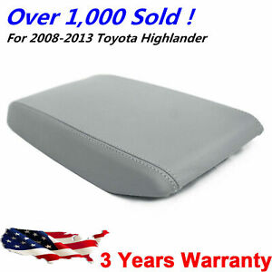 For 2008 2013 Toyota Highlander Leather Center Console Lid Armrest Cover Gray Us