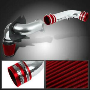 For 96 04 Ford Mustang 4 6l V8 Chrome Aluminum Cold Air Intake Kit Red Filter