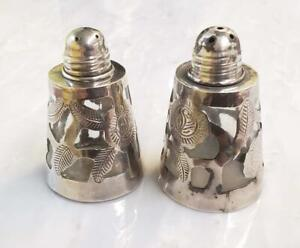 Vintage Sterling Silver Salt Pepper Shakers Mexico 66 8grams 8 H515