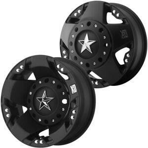 Set Of 4 17 Inch Xd Series Xd775 Rockstar Dually 8x6 5 Matte Black Wheels Rims