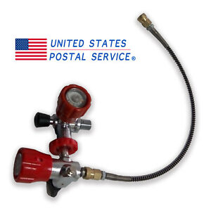 4500psi High Pressure Fill Station Paintball M18x1 5 Thread For Air Tank Hose
