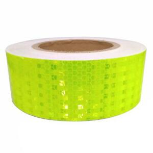 Car Truck Reflective Self adhesive Safety Warning Tape Roll Sticker Green 25m