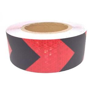 Car Truck Reflective Self adhesive Safety Warning Tape Sticker Red Black 25m