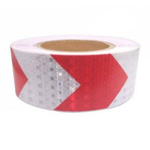 Car Truck Reflective Self adhesive Safety Warning Tape Sticker Red White 25m