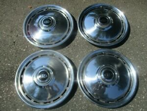 Factory 1979 To 1985 Buick Riviera 15 Inch Hubcaps Wheel Covers Set Nice