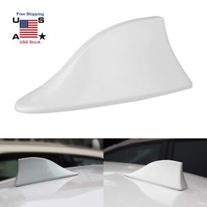 Universal Car Roof Radio Am Fm Signal Shark Fin Style Aerial Antenna Cover White