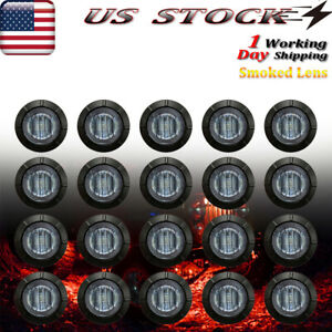 20x Led Rock Lights Smoked Red Underbody Light For Jeep Offroad Truck Utv Atv
