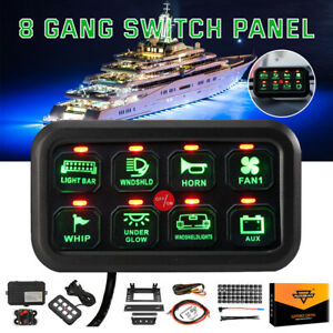 Auxbeam Newset 8 Gang On off Control Switch Panel For Jeep Wrangler Yj tj jk jl