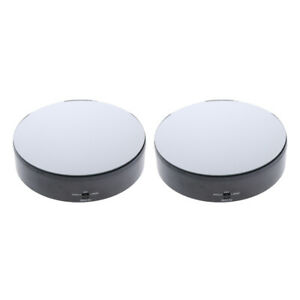 2pcs Electric Display Rotating Turntable Jewelry Watches Ring Display Holders