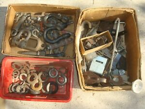 40 Pounds Bolts Washers Tie Downs Misc Metal Art Steampunk Etc Lot 3