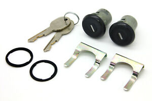 New Latchwell Black Door Lock Cylinder Set Withkeys Fits 73 87 Chevy Square Body