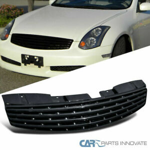 Fit Infiniti 03 07 G35 Skyline 2dr Coupe Black Front Insert Hood Grille Grill