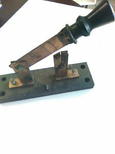 Large General Electric 200a 250vdc 500vac Single Pole Copper Knife Switch